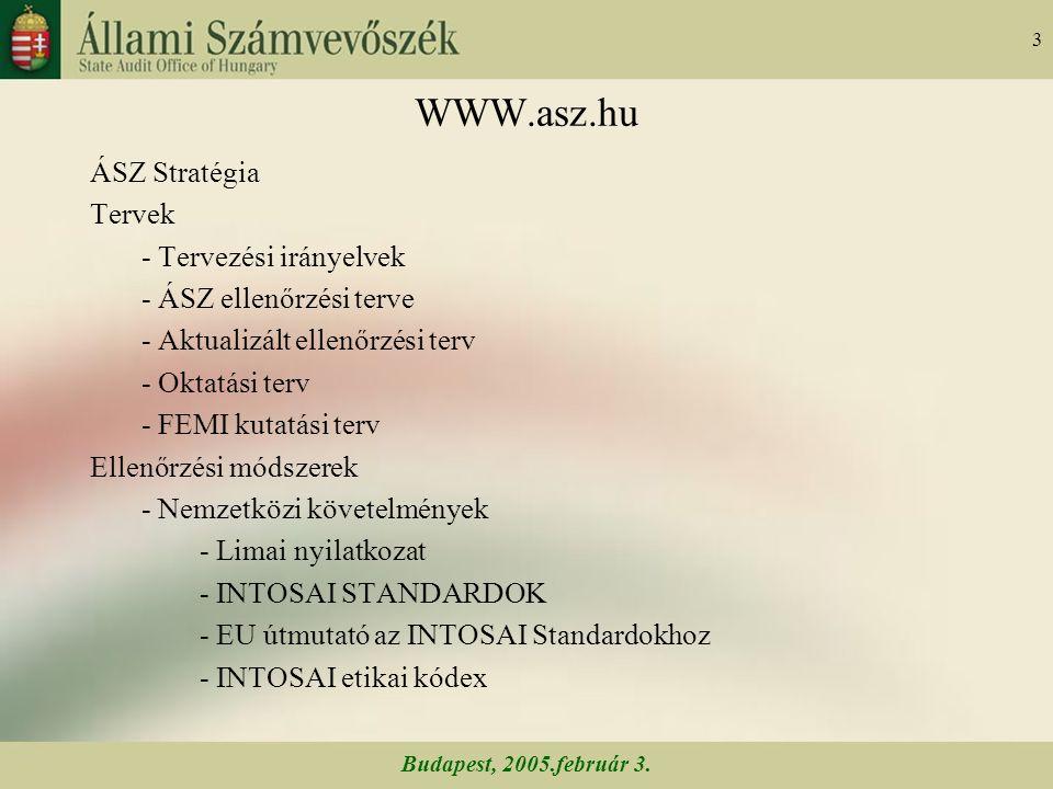 Budapest, 2005.február 3.64 A twinning program 2001.