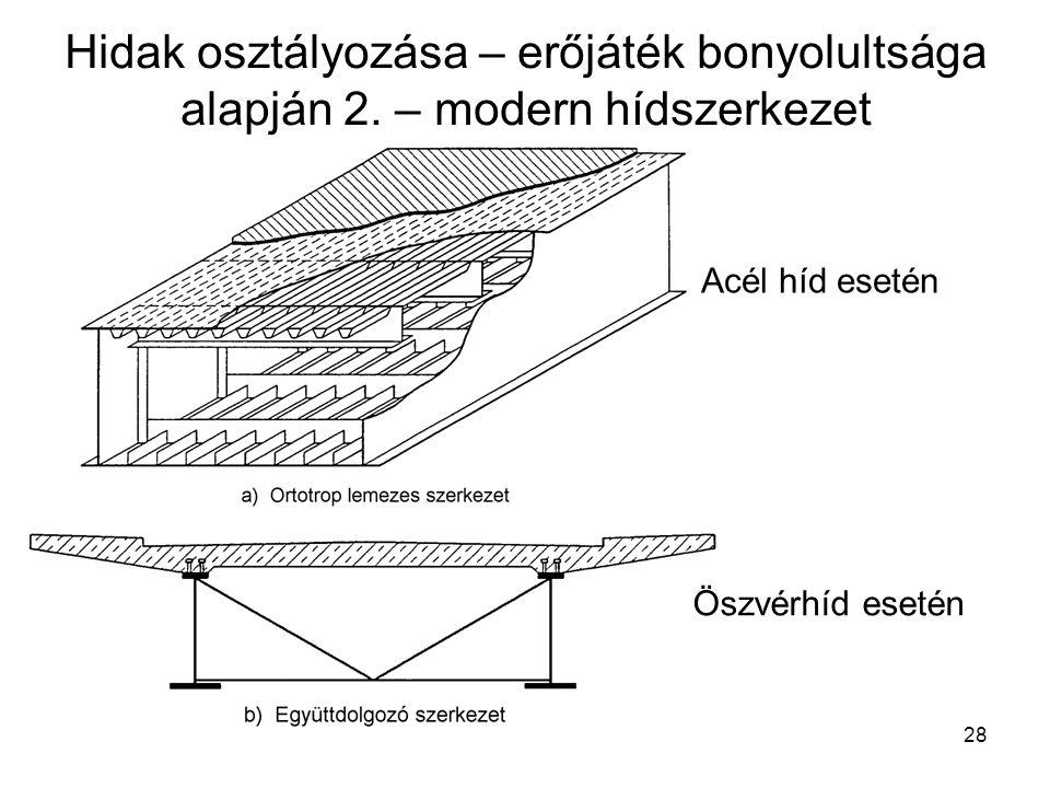 28 Hidak osztályozása – erőjáték bonyolultsága alapján 2.