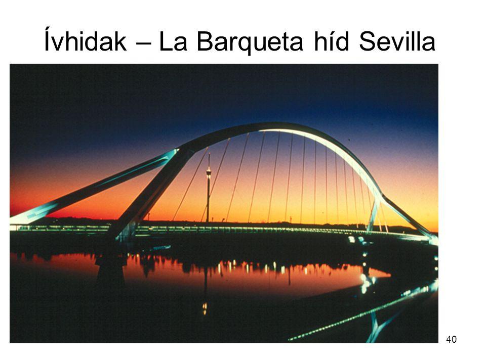 40 Ívhidak – La Barqueta híd Sevilla