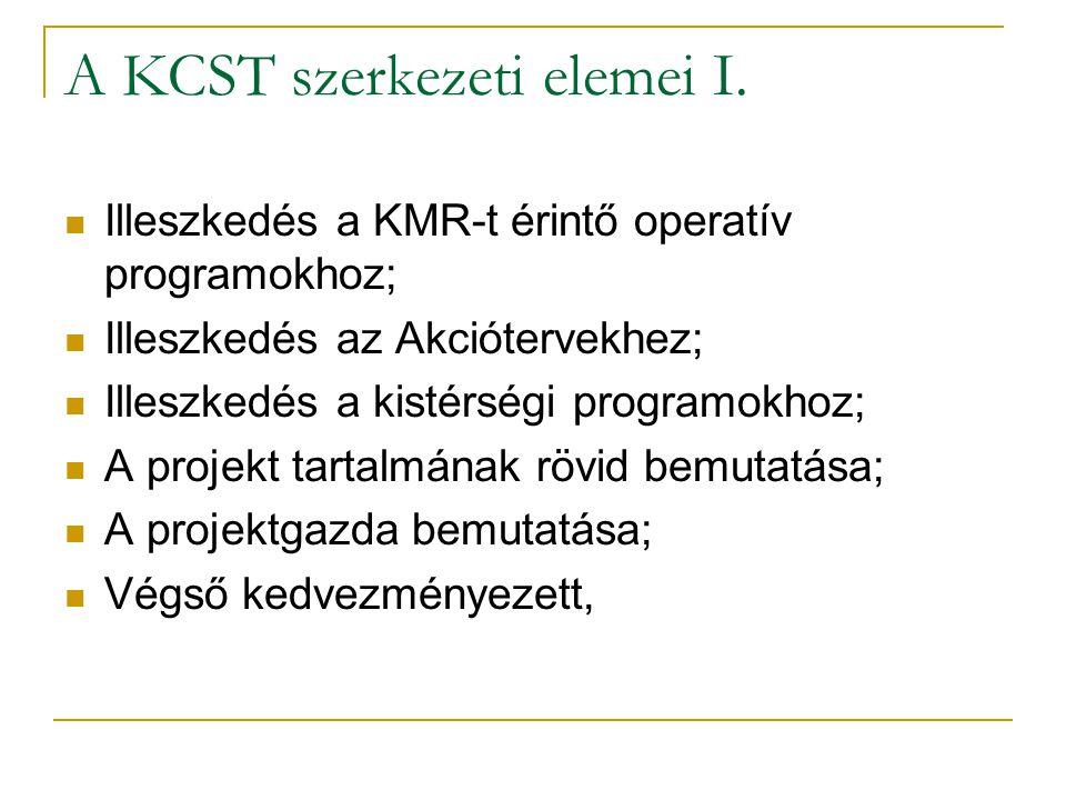A KCST szerkezeti elemei I.