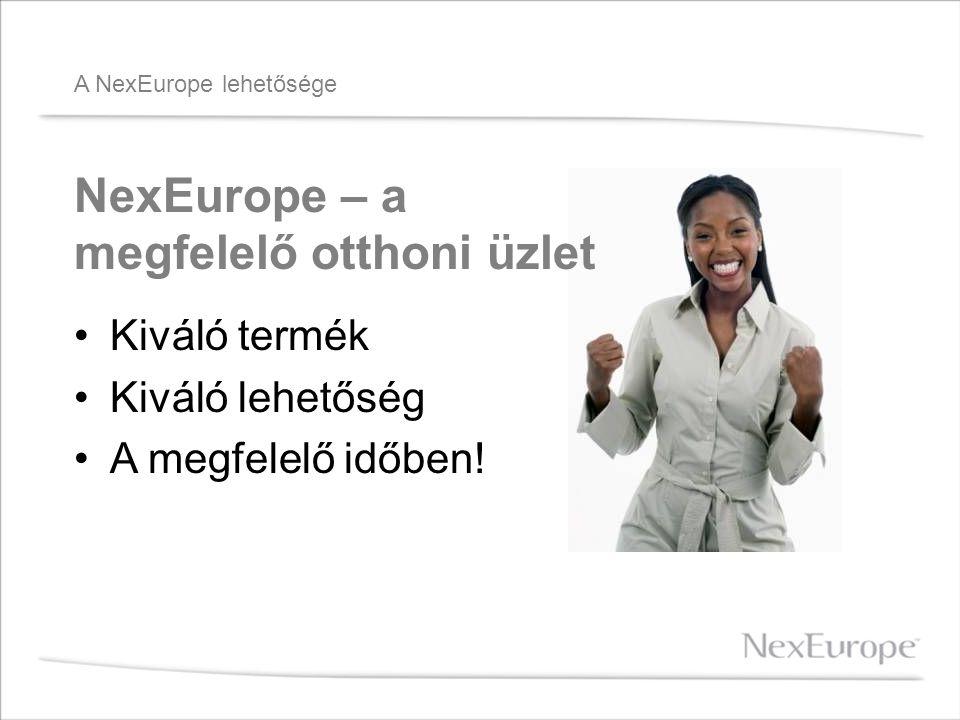 A NexEurope lehetősége •Kiváló termék •Kiváló lehetőség •A megfelelő időben.