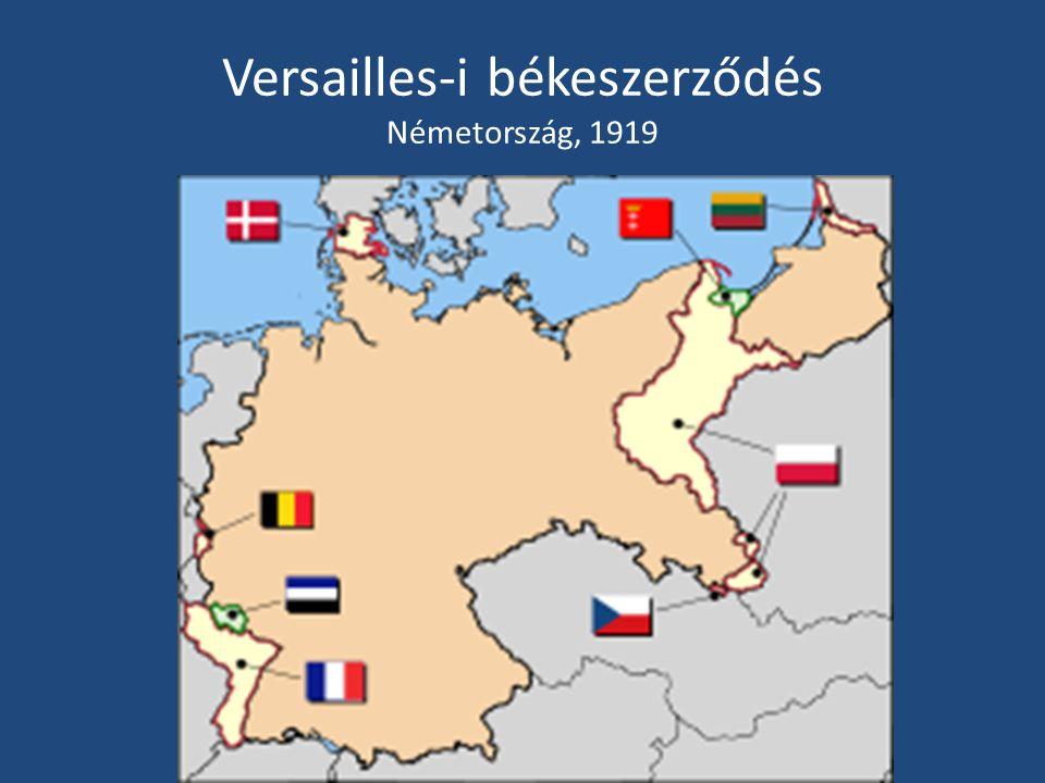 Versailles-i békeszerződés Németország, 1919