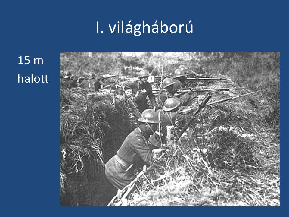"""Versailles-i béke (1919) • Németország """"egyedül felelős a világháborúért • Elcsatolták Kelet-Poroszország, Pomeránia nagy részét, Elzász-Lotaringiát, 15 évre Saar-vidéket • Kettészakították (danzigi folyosó) • Jóvátétel fizetésére kötelezték (mai áron 400 md $) • Elvették gyarmatait • Korlátozták haderejét: max."""
