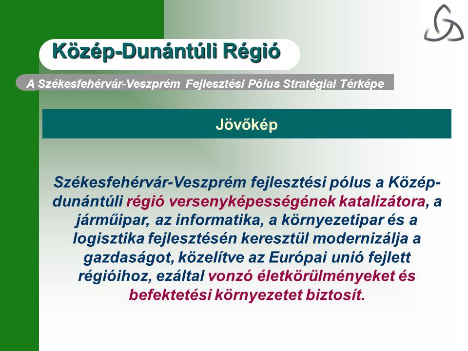 Közép-Dunántúli Régió A Székesfehérvár-Veszprém Fejlesztési Pólus Stratégiai Térképe Jövőkép Székesfehérvár-Veszprém fejlesztési pólus a Közép- dunánt