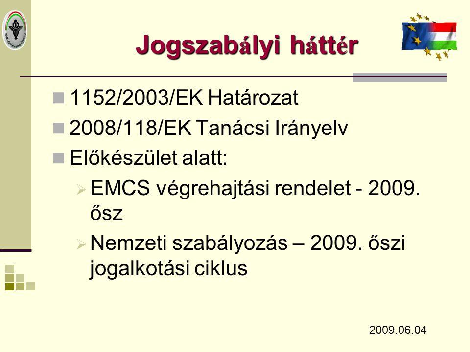 2008/118/EK Tan á csi Ir á nyelv  A 92/12/EGK Tanácsi Irányelvet hatályon kívül helyezi.