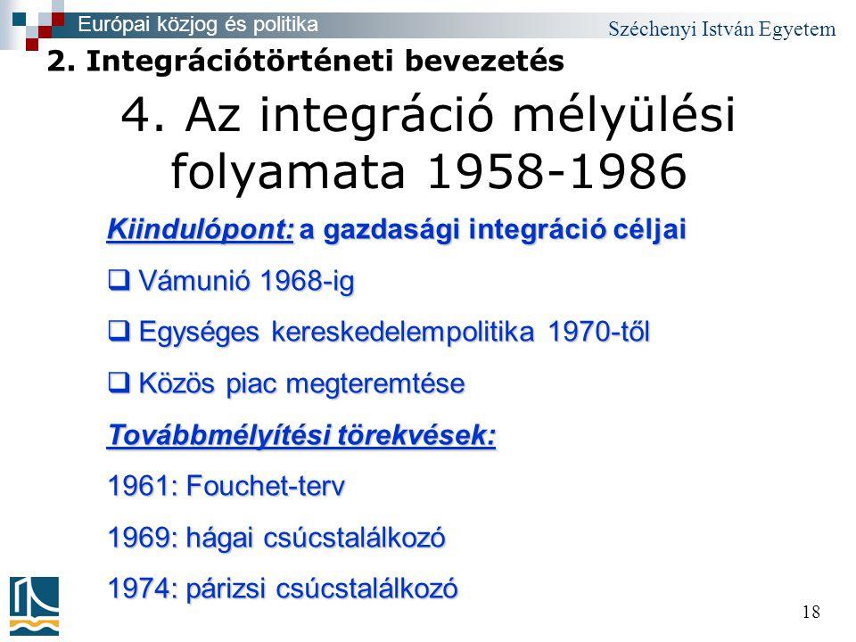 Széchenyi István Egyetem 18 4.