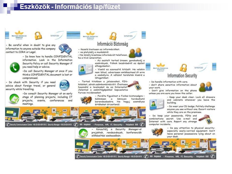 Eszközök - Információs lap/füzet
