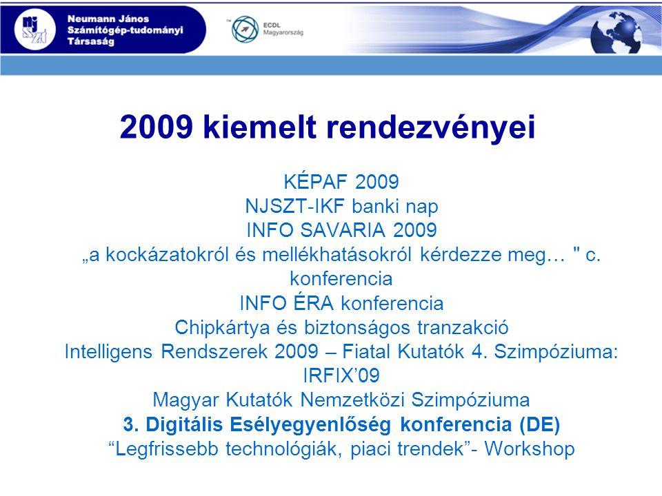 """2009 kiemelt rendezvényei KÉPAF 2009 NJSZT-IKF banki nap INFO SAVARIA 2009 """"a kockázatokról és mellékhatásokról kérdezze meg… c."""