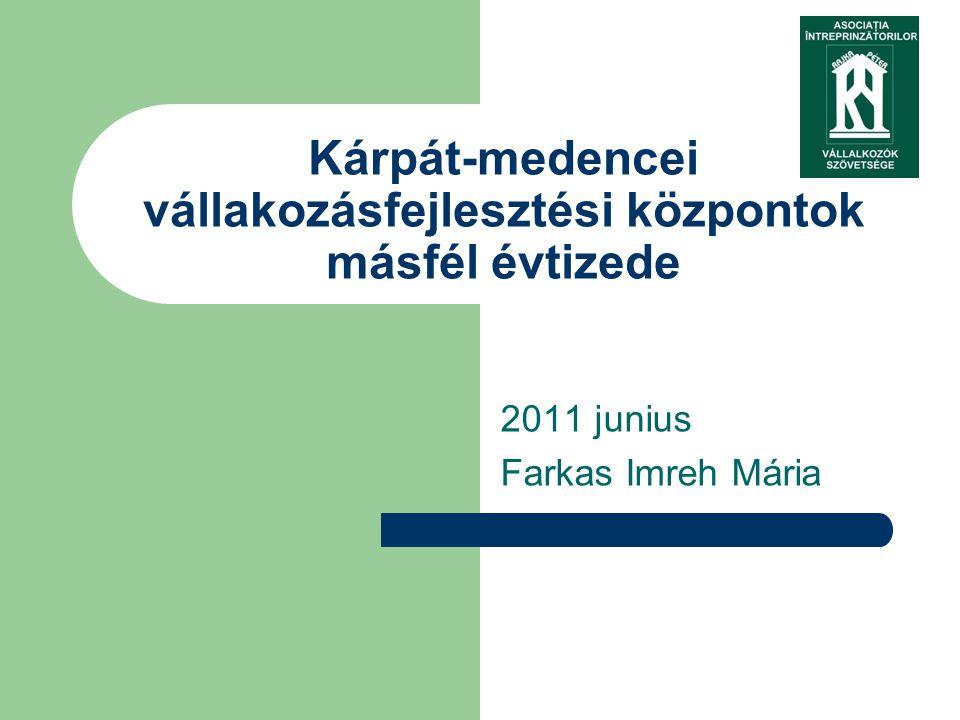 2011 junius Farkas Imreh Mária Kárpát-medencei vállakozásfejlesztési központok másfél évtizede