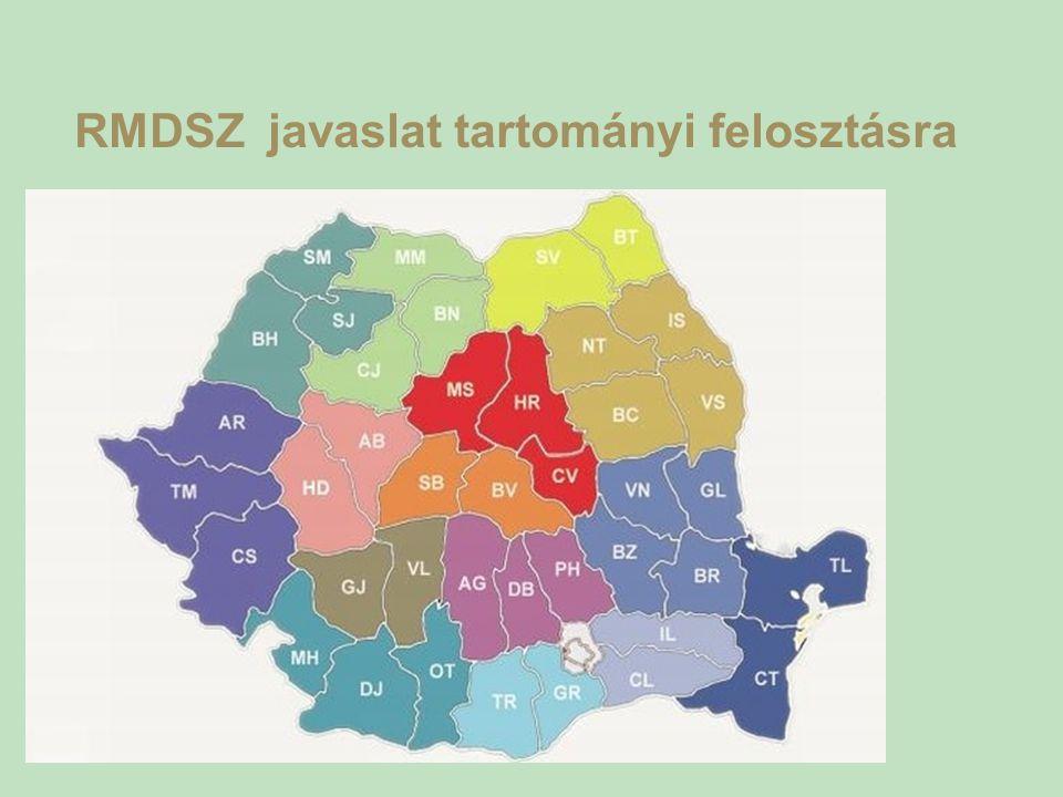 RMDSZ javaslat tartományi felosztásra