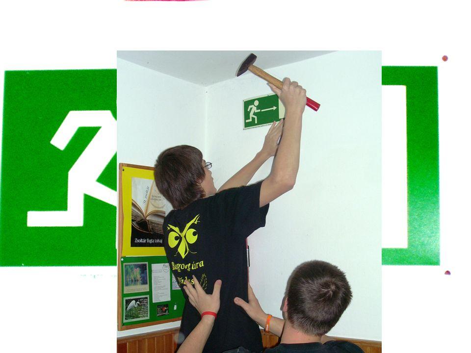 Megvalósítás Útján Feliratok, piktogrammok ÖregdiákokKilincsek SZMK DÖK Elhelyezés