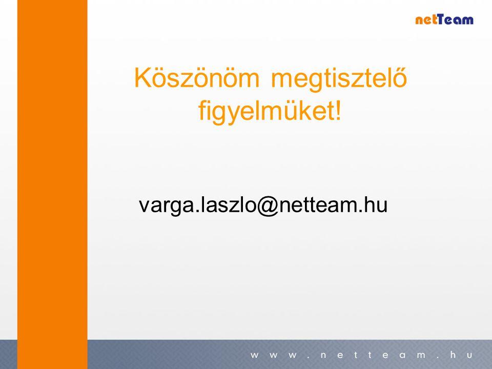Köszönöm megtisztelő figyelmüket! varga.laszlo@netteam.hu