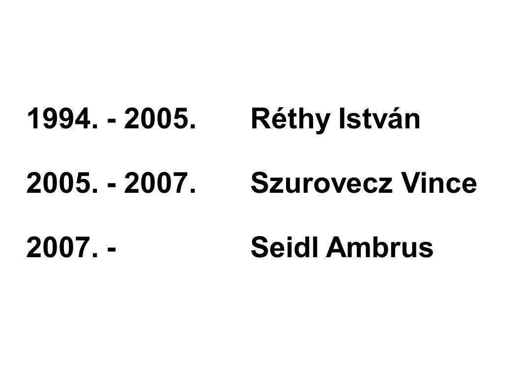 1994. - 2005.Réthy István 2005. - 2007.Szurovecz Vince 2007. -Seidl Ambrus