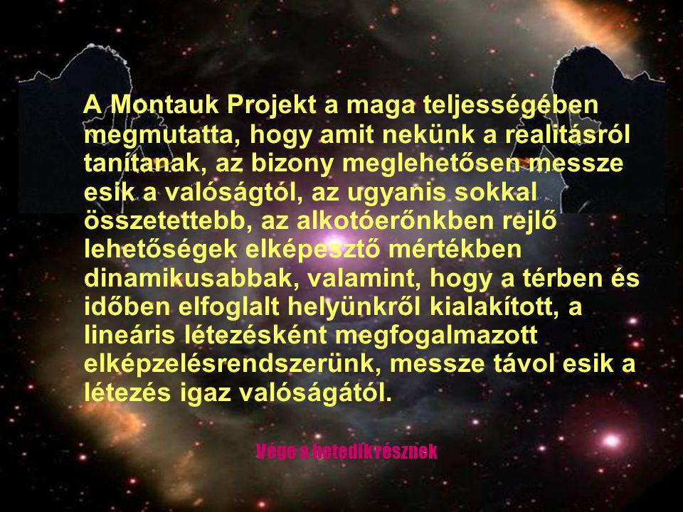 A Montauk Projekt a maga teljességében megmutatta, hogy amit nekünk a realitásról tanítanak, az bizony meglehetősen messze esik a valóságtól, az ugyan