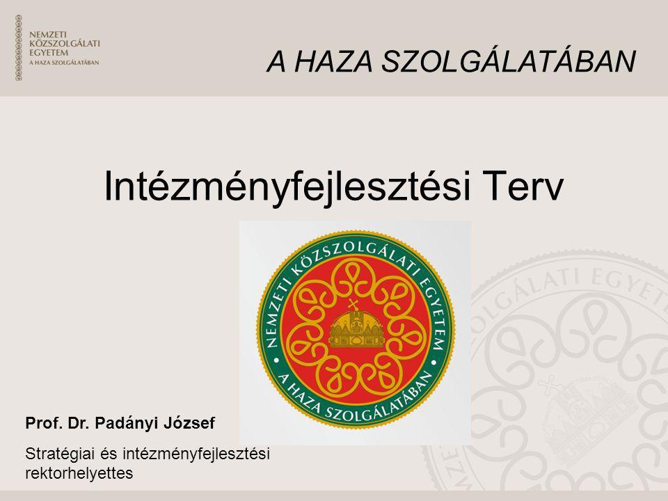 Intézményfejlesztési Terv Prof. Dr. Padányi József Stratégiai és intézményfejlesztési rektorhelyettes A HAZA SZOLGÁLATÁBAN