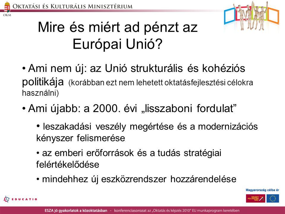 Mire és miért ad pénzt az Európai Unió.