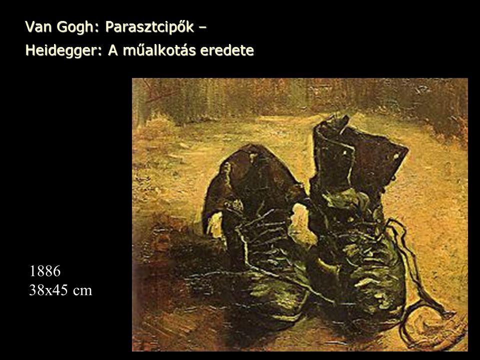 Van Gogh: Parasztcipők – Heidegger: A műalkotás eredete 1886 38x45 cm