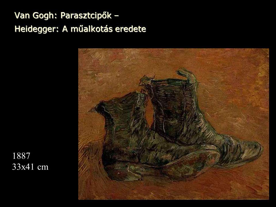 Van Gogh: Parasztcipők – Heidegger: A műalkotás eredete 1887 33x41 cm