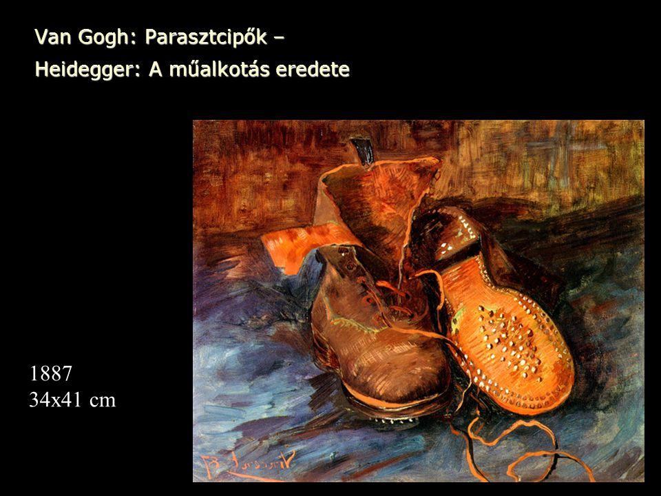 Van Gogh: Parasztcipők – Heidegger: A műalkotás eredete 1887 34x41 cm