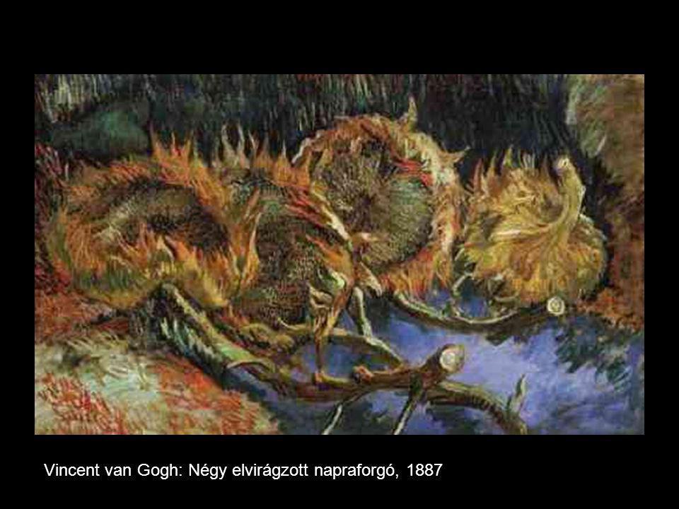 Vincent van Gogh: Négy elvirágzott napraforgó, 1887