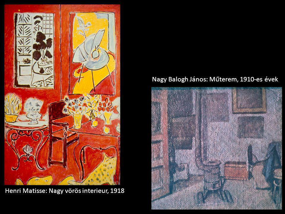 Henri Matisse: Nagy vörös interieur, 1918 Nagy Balogh János: Műterem, 1910-es évek
