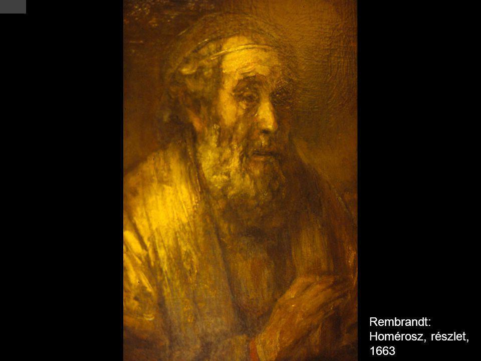 Rembrandt: Homérosz, részlet, 1663