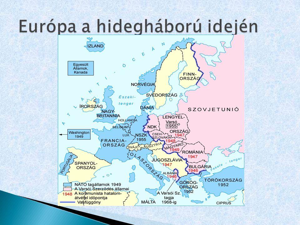  Benelux-szerződés (1947):  Hollandia, Belgium, Luxemburg gazdasági, politikai együttműködése  gazdasági Unió, egységes útlevél  Európai Gazdasági Együttműködési Szervezet (1948) (Későbbi rövidítése: OECD)  Marshall –terv végrehajtása, később gazdasági fórum.