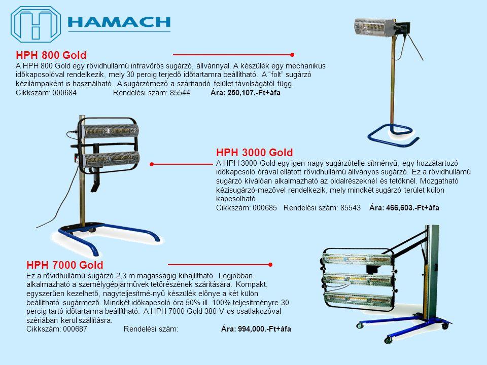 HPH 7000 Gold Ez a rövidhullámú sugárzó 2,3 m magasságig kihajlítható.