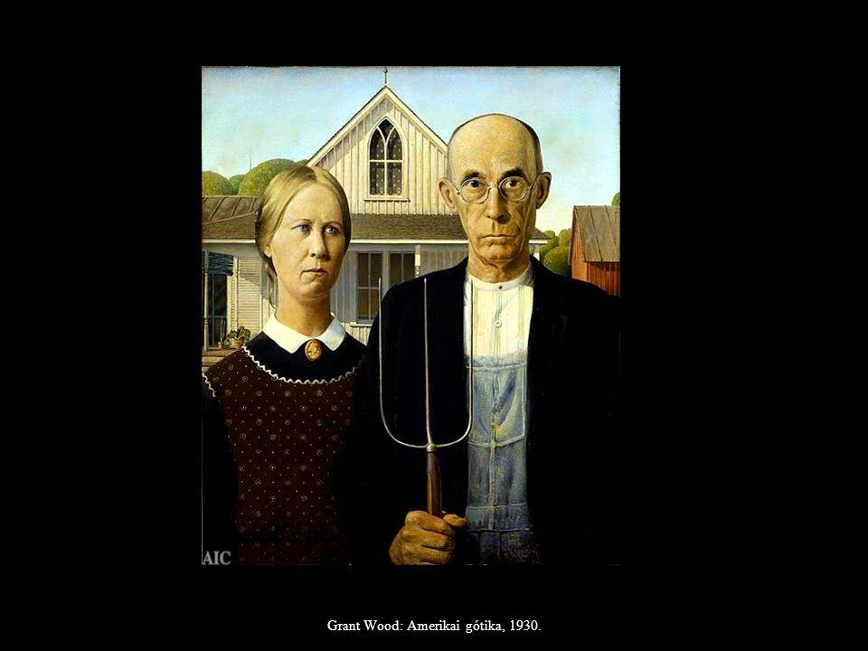Grant Wood: Amerikai gótika, 1930.