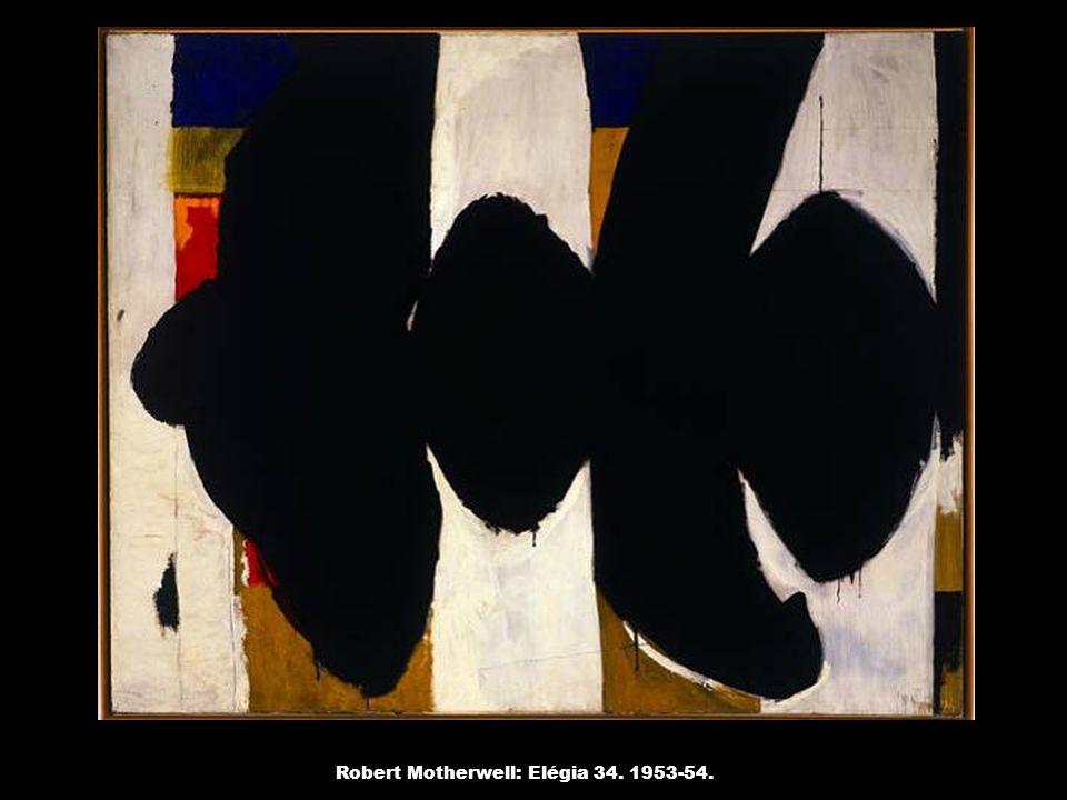 Robert Motherwell: Elégia 34. 1953-54.