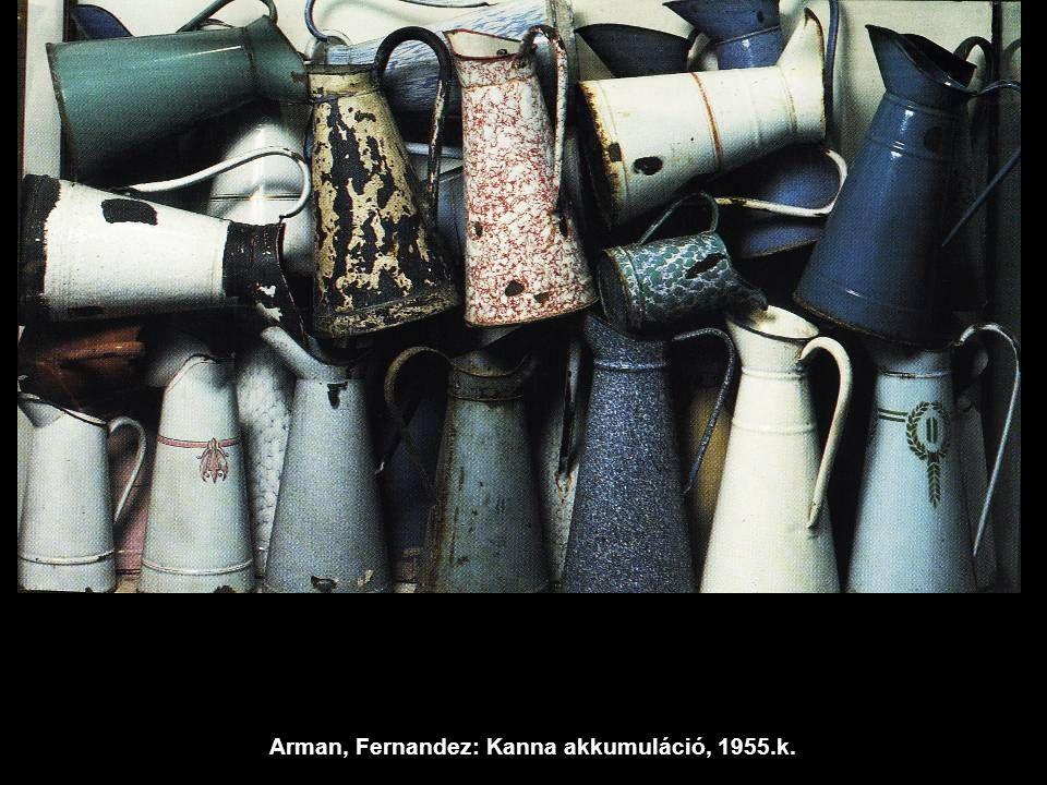 Arman, Fernandez: Kanna akkumuláció, 1955.k.