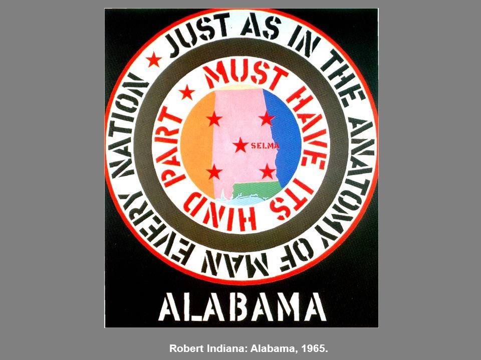 Robert Indiana: Alabama, 1965.
