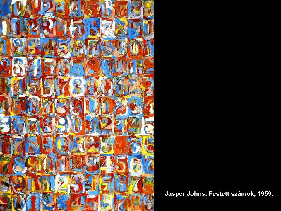 Jasper Johns: Festett számok, 1959.