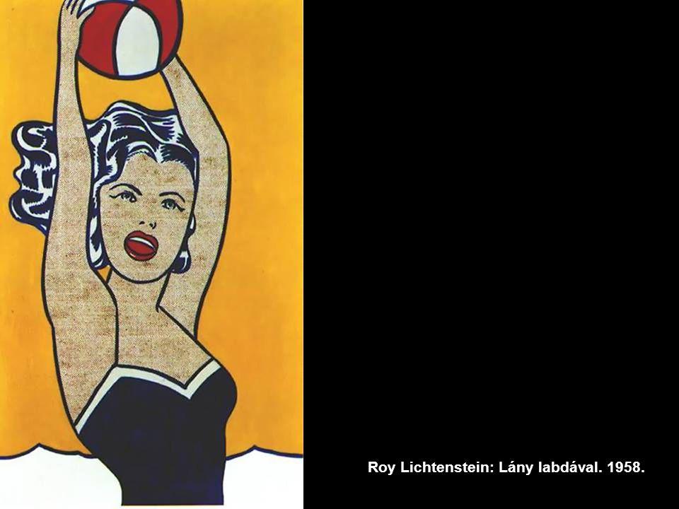 Roy Lichtenstein: Lány labdával. 1958.