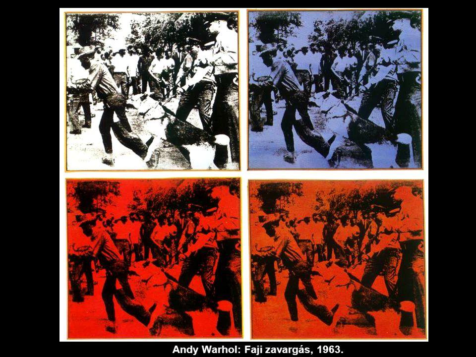Andy Warhol: Faji zavargás, 1963.
