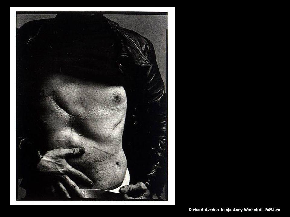 Richard Avedon fotója Andy Warholról 1969-ben