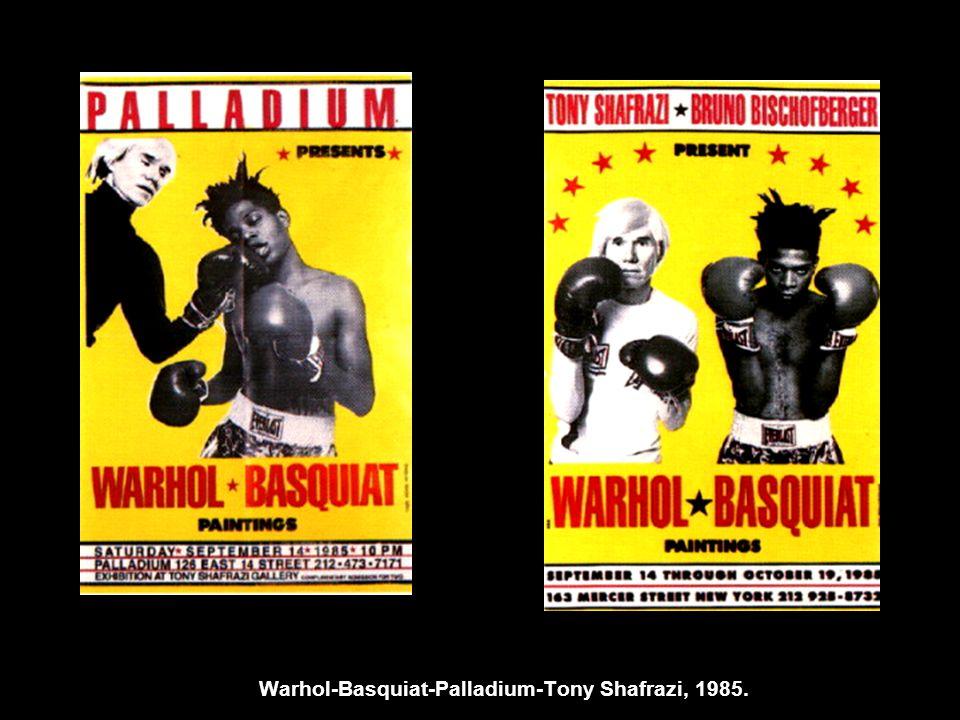 Warhol-Basquiat-Palladium-Tony Shafrazi, 1985.