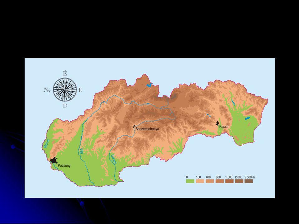  Északnyugati-Kárpátok  Északról dél felé haladva a következő vonulatok különíthetők el:  Flis és homokkő-vonulat: Fehér-Kárpátok, Nyugati- és Keleti-Beszkidek  Kristályos-vonulat: Kis-Kárpátok, Kis-Fátra, Nagy- Fátra, Alacsony-Tátra, Magas-Tátra  Vulkáni-vonulat: Madaras, Selmeci-hg., Körmöci-hg., Jávoros  Szlovák-érchegység (variszkuszi eredetű)  Szlovák-alföld, Csallóköz