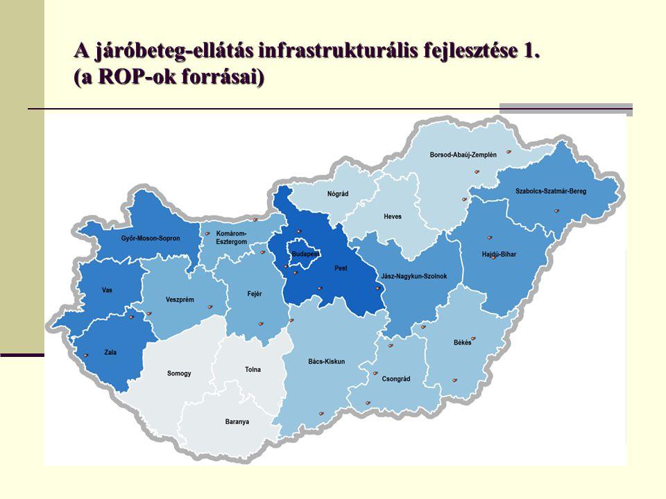 A járóbeteg-szakellátás fejlesztését a Regionális Operatív Programok is jelentős pályázati forrásokkal támogatják: a 2007-2008.