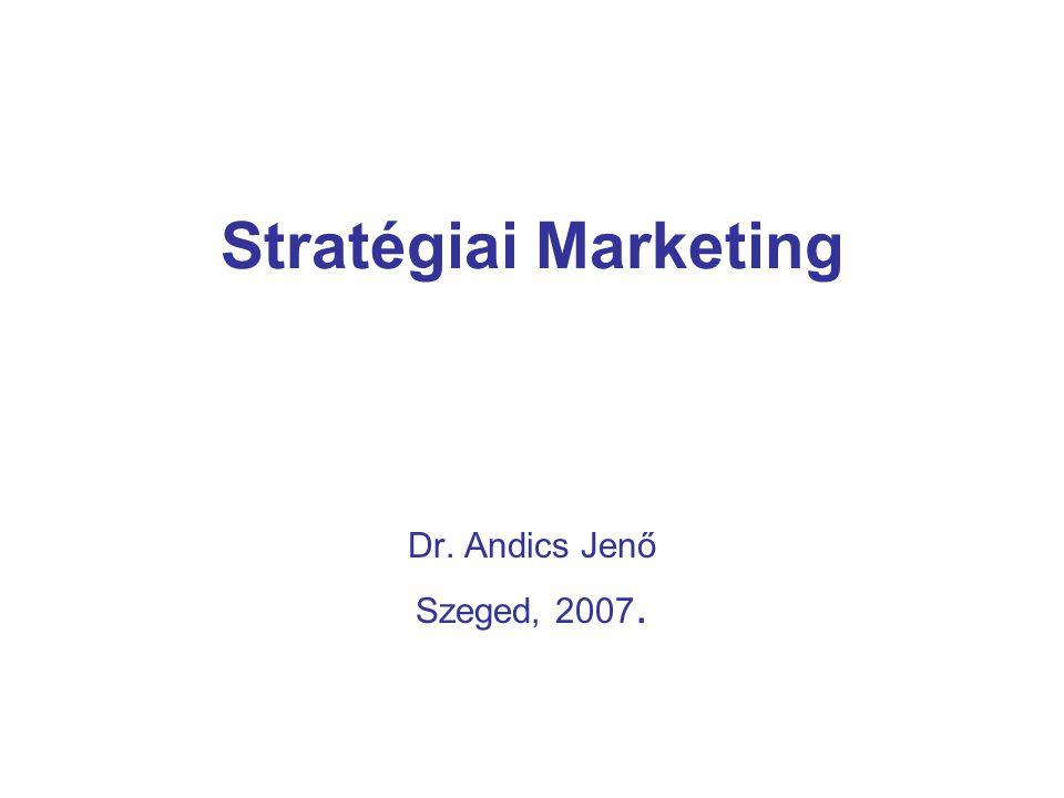 Stratégiai Marketing Dr. Andics Jenő Szeged, 2007.