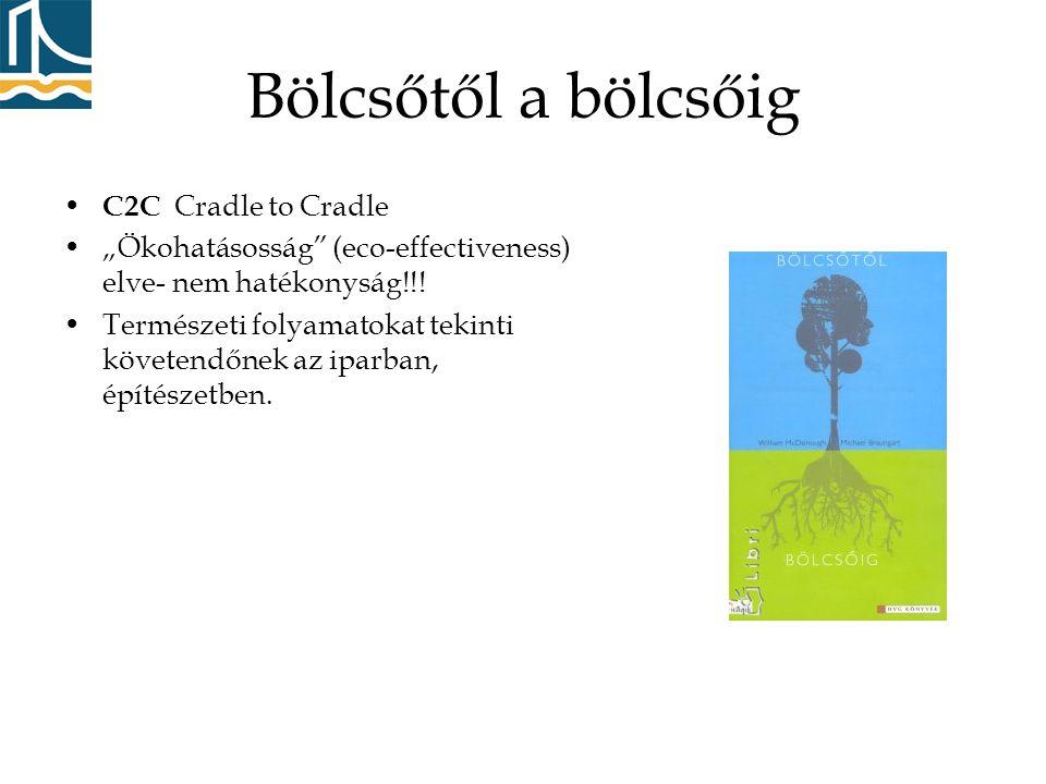 """Bölcsőtől a bölcsőig • C2C Cradle to Cradle •""""Ökohatásosság (eco-effectiveness) elve- nem hatékonyság!!."""