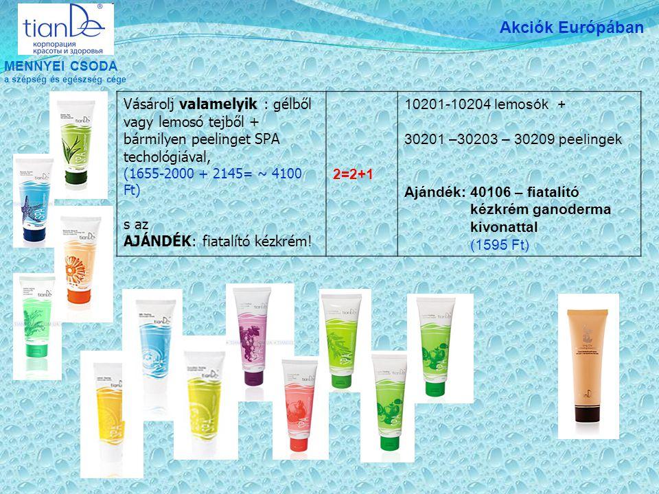 MENNYEI CSODA a szépség és egészség cége Akciók Európában Vásárolj valamelyik : gélből vagy lemosó tejből + bármilyen peelinget SPA techológiával, (16