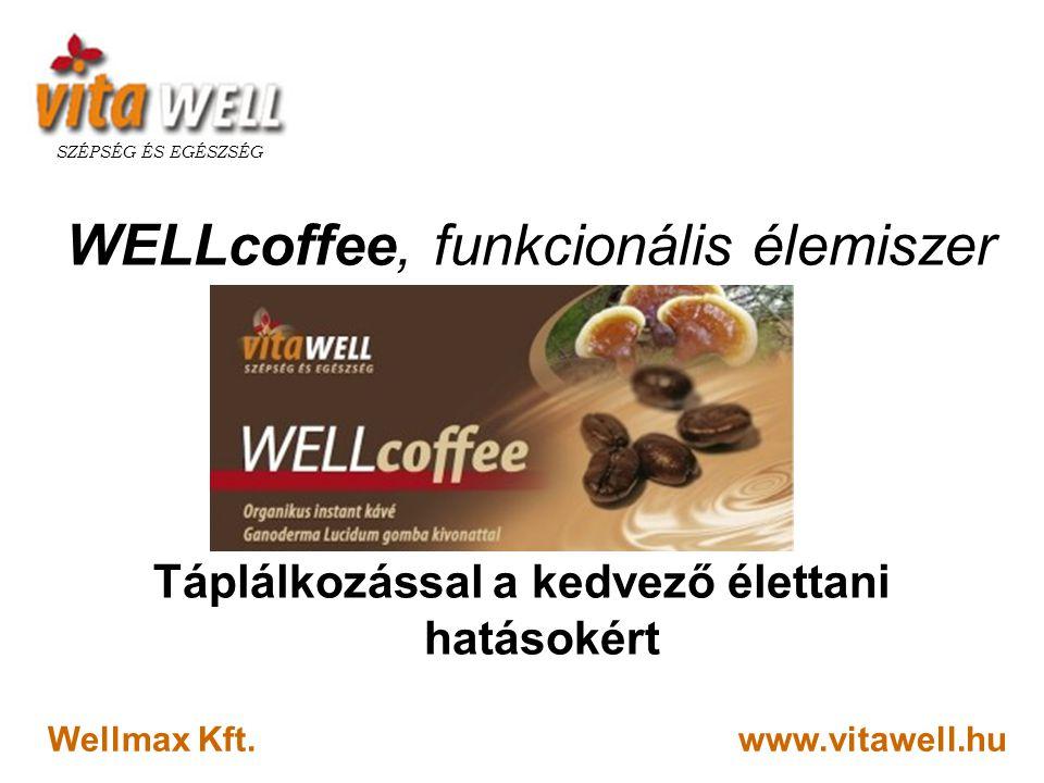 www.vitawell.hu SZÉPSÉG ÉS EGÉSZSÉG Wellmax Kft. WELLcoffee, funkcionális élemiszer Táplálkozással a kedvező élettani hatásokért