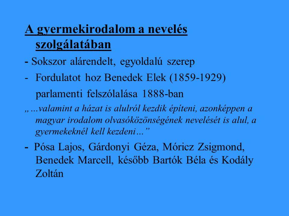 """Magyar Ifjúsági Irodalmi Társaság 1921- 44 """"A gyermek világa nem paprikajancsi világ."""