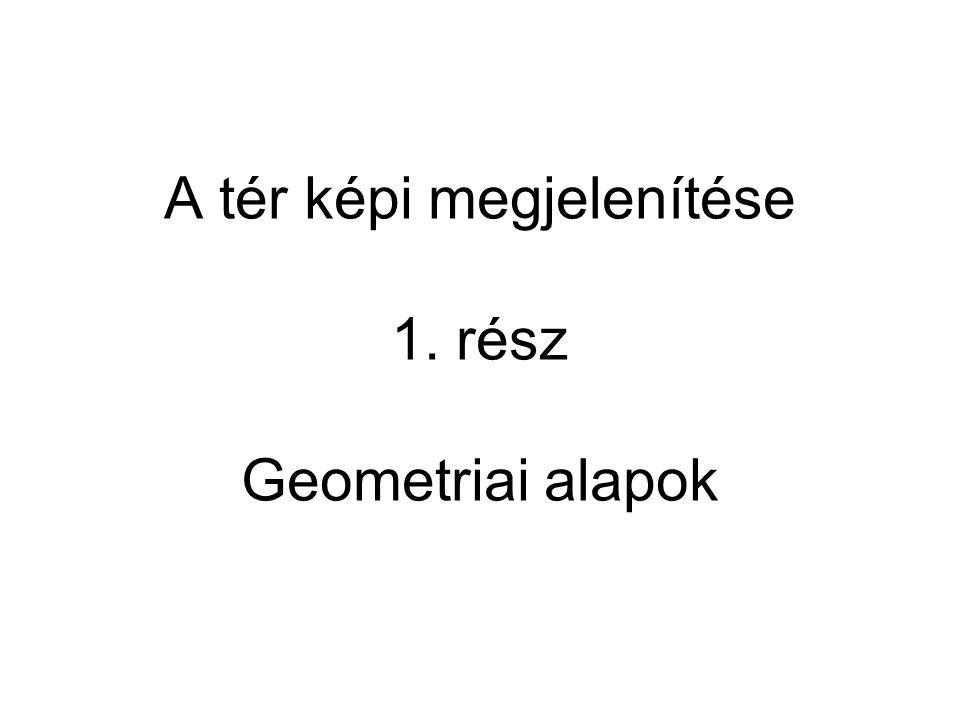 A tér képi megjelenítése 1. rész Geometriai alapok