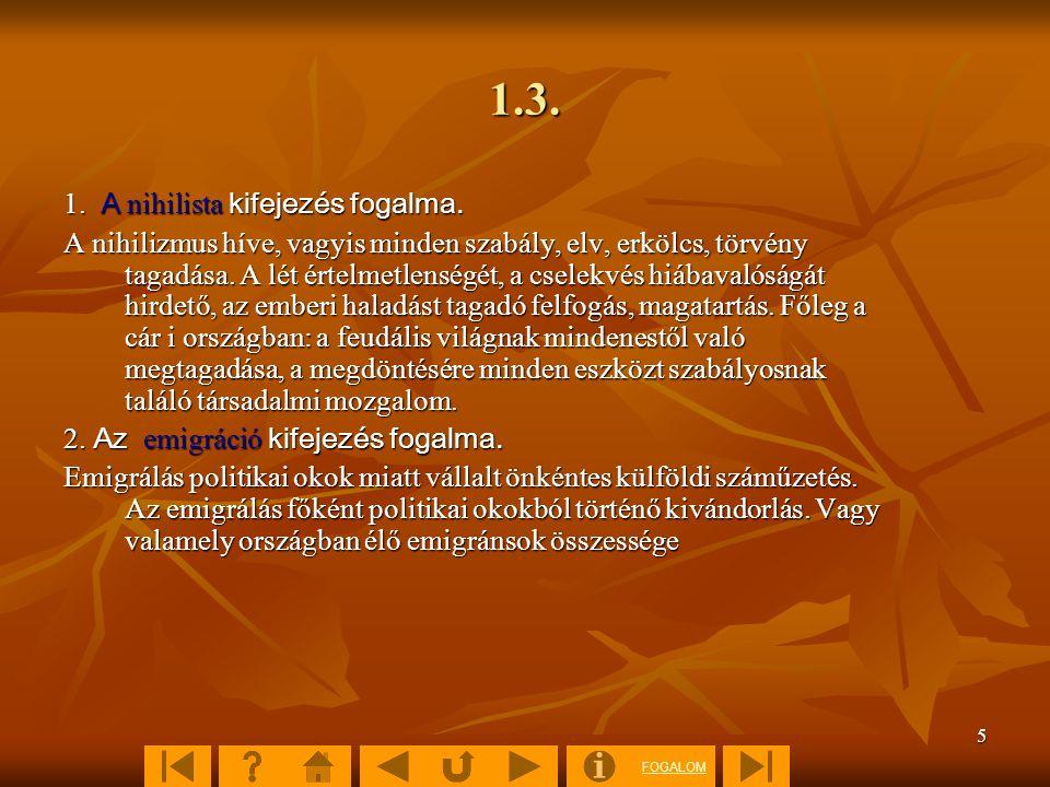 FOGALOM 6 1.4.3.