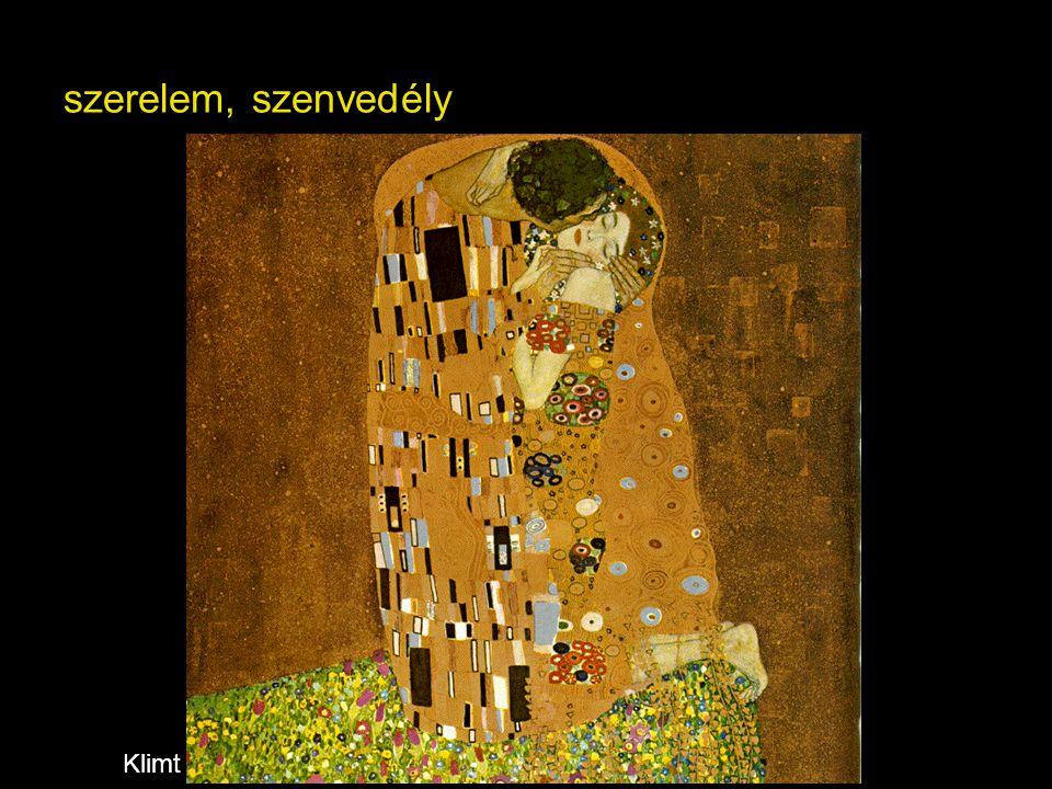 szerelem, szenvedély Klimt