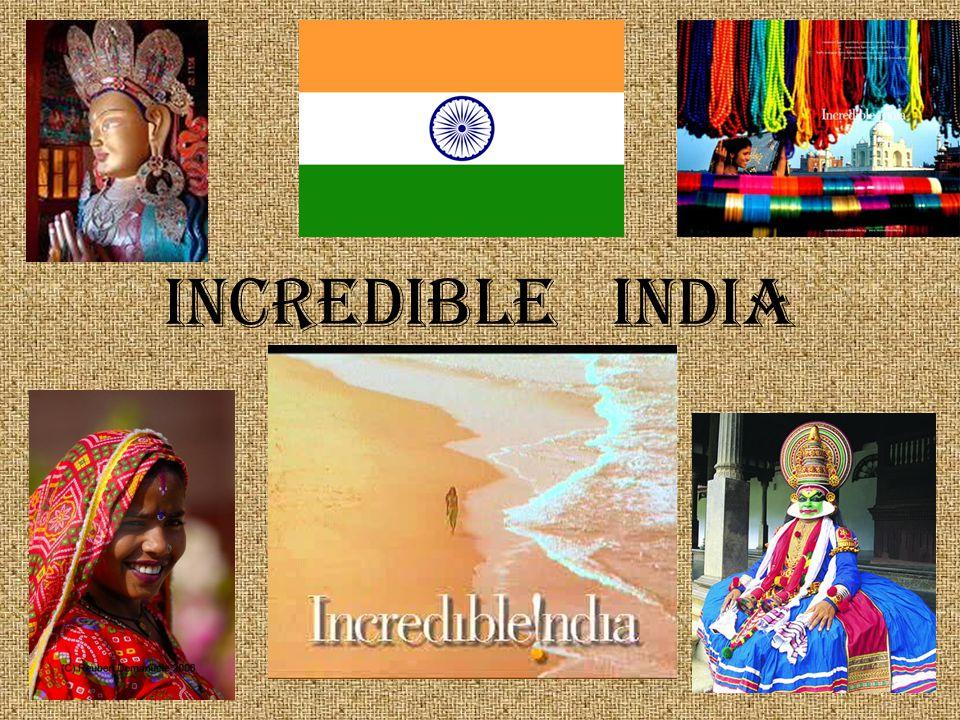 India elhelyezkedése Az arab tengerrel, az Indiai óceánnal és a Bengáli-öböllel határos, kontinensnyi méretű ország.