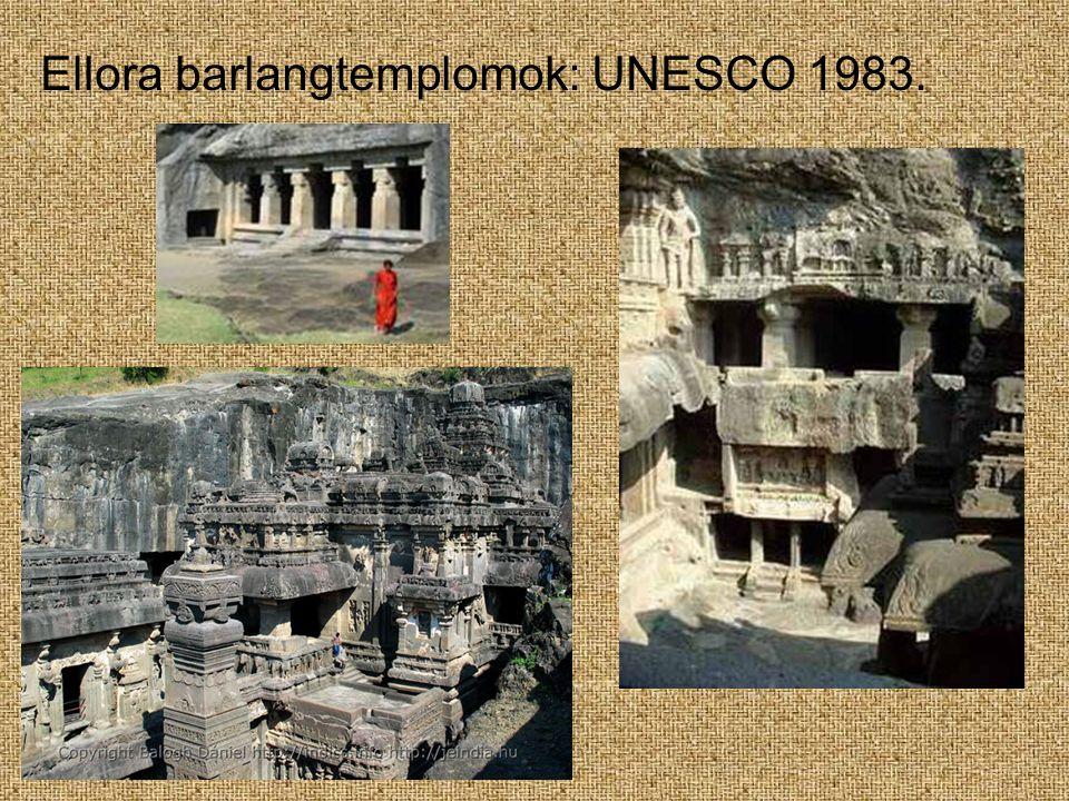 Ellora barlangtemplomok: UNESCO 1983.