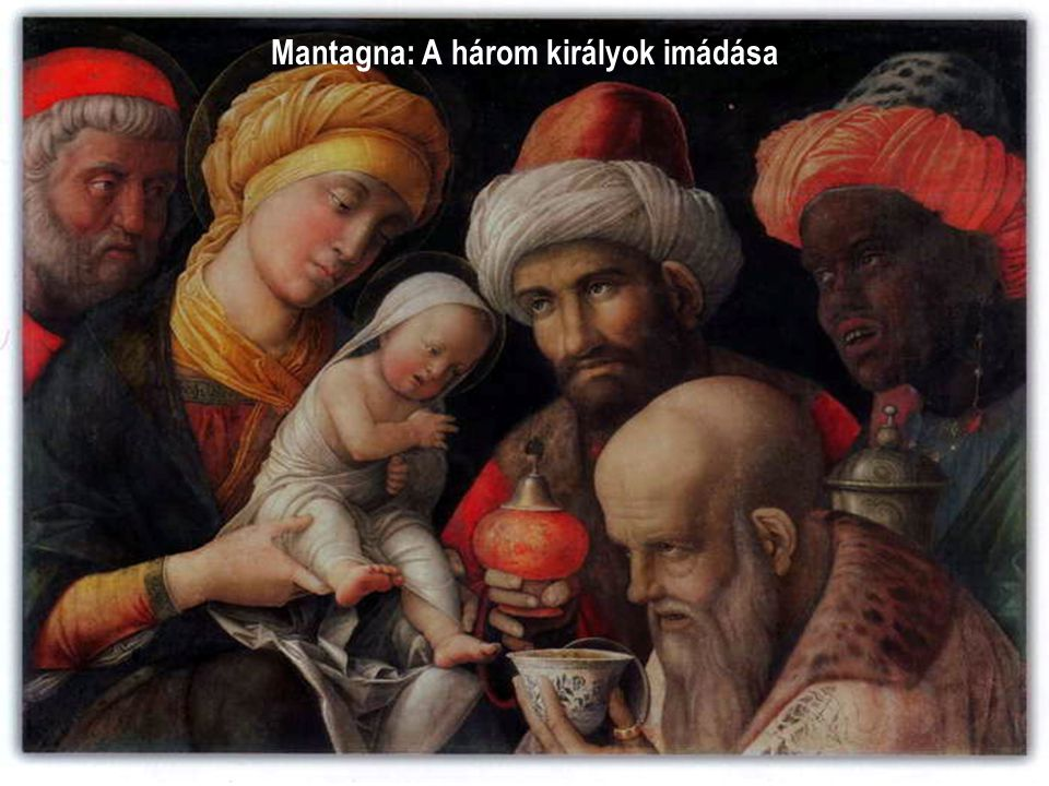 Mantagna: A három királyok imádása